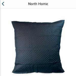 North Home Navy Blue Quilted Pillow Shams